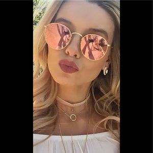 Vintage Pink and Gold Sunglasses
